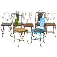 Vintage Naïve Wire Chairs from India, 20th Century