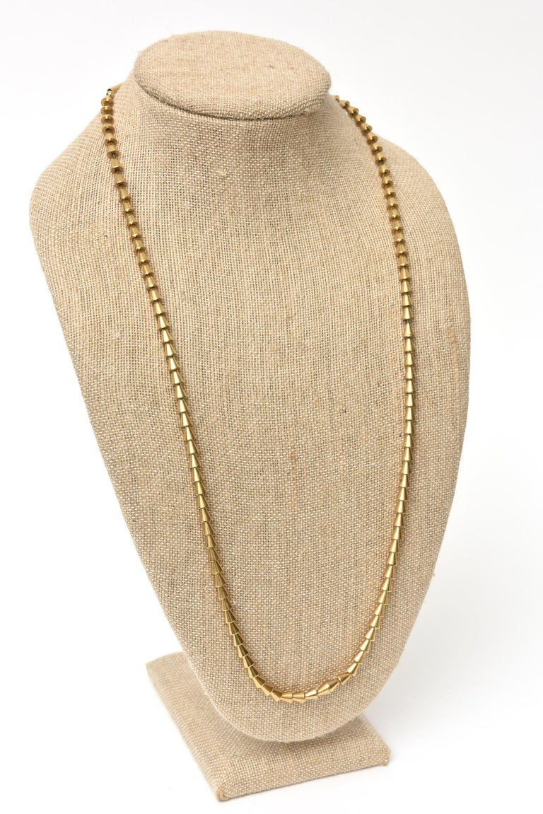 Vintage Napier Gold Plated Reticulated Geometric Necklace For Sale 3