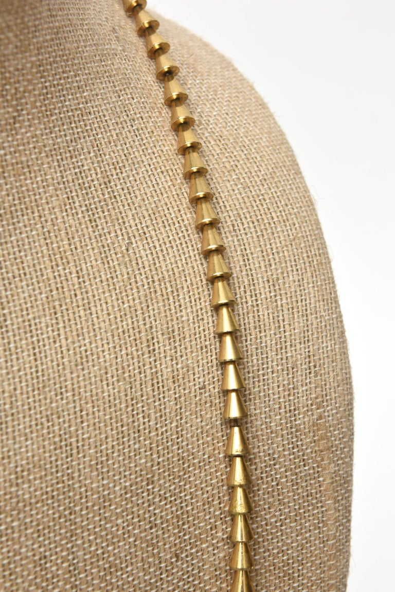 Vintage Napier Gold Plated Reticulated Geometric Necklace For Sale 4