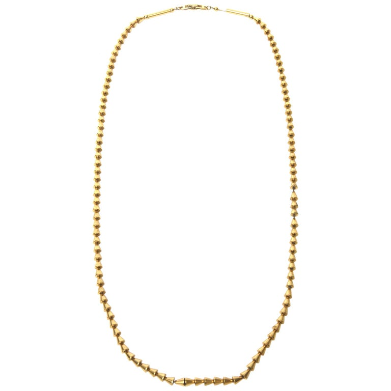 Vintage Napier Gold Plated Reticulated Geometric Necklace For Sale
