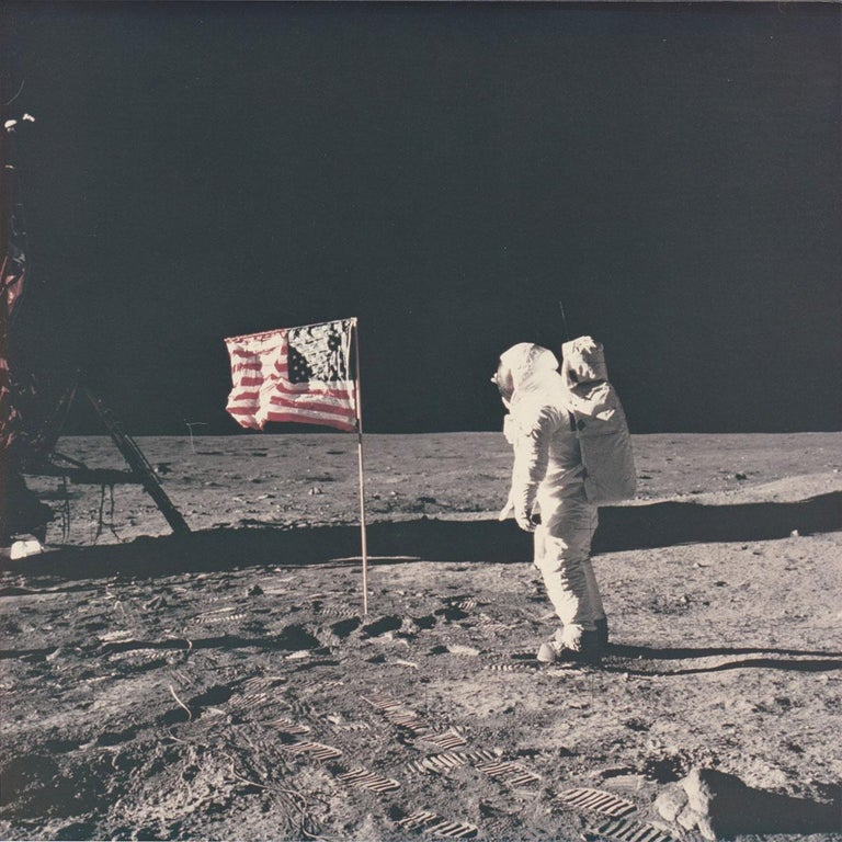 Patrick Parrish is excited to offer an incredible group of original photographs printed by Meisel Photochrome Corporation of Dallas around 1970, shortly after the Apollo 11 Mission. Meisel was the official photo contractor for NASA and processed all