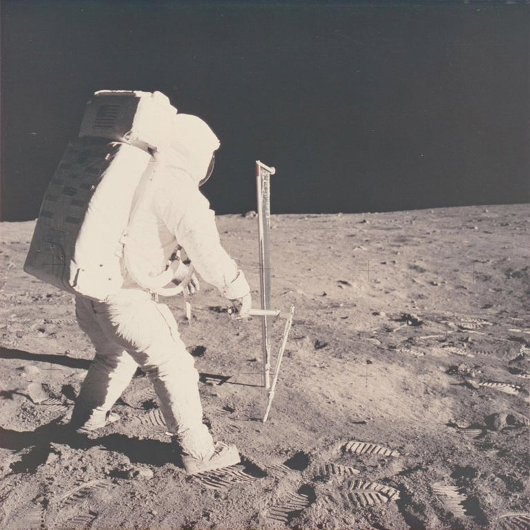 Patrick Parrish is excited to offer an incredible group of original photographs printed by Meisel Photochrome Corporation of Dallas circa 1970, shortly after the Apollo 11 Mission. Meisel was the official photo contractor for NASA and processed all