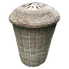 Vintage Natural Wicker Hamper