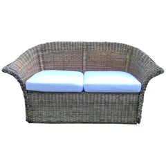 Vintage Natural Wicker Sofa