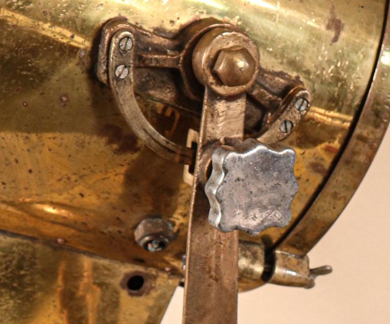 Vintage Nautical Brass Signal Lantern For Sale 5