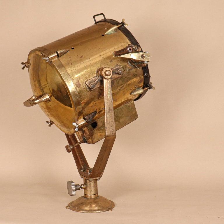 Japanese Vintage Nautical Brass Signal Lantern For Sale