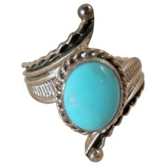 Vintage Navajo-American Indian Raymond Delgarito Turquoise & Sterling Ring