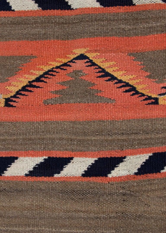American Vintage Navajo Banded Wool Serape Style Blanket, 19th Century, circa 1880-1900 For Sale