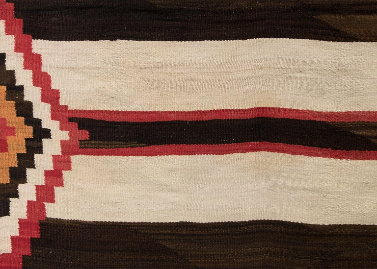 Vintage Navajo Chiefs Blanket Third Phase Pattern Circa