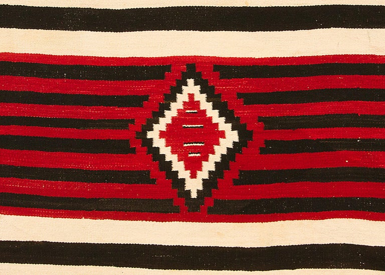 Native American Vintage Navajo Chief's Blanket, Third Phase Pattern, circa 1900 For Sale