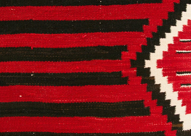 American Vintage Navajo Chief's Blanket, Third Phase Pattern, circa 1900 For Sale