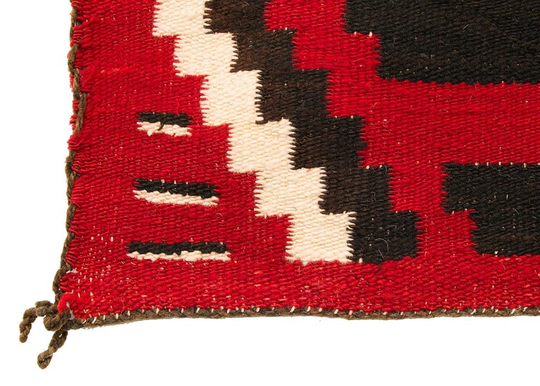 Hand-Woven Vintage Navajo Chief's Blanket, Third Phase Pattern, circa 1900 For Sale