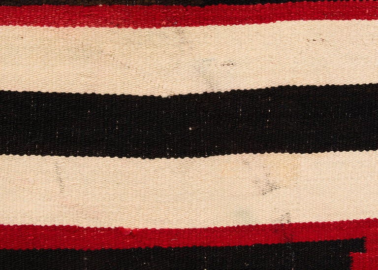 Wool Vintage Navajo Chief's Blanket, Third Phase Pattern, circa 1900 For Sale