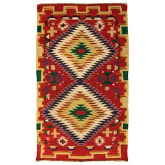 Vintage Navajo Germantown Eye-Dazzler Blanket, circa 1890