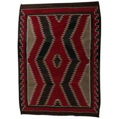 Vintage Navajo Germantown Wool Eyedazzler Rug, circa 1930