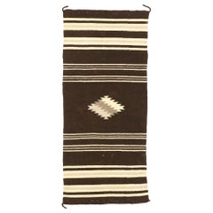 Vintage Navajo Kilim Rug with Native American Style and Two Grey Hills Vibes