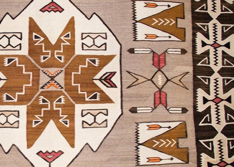 Native American Vintage Navajo Pictorial Area Rug, Teec Nos Pos Trading Post For Sale
