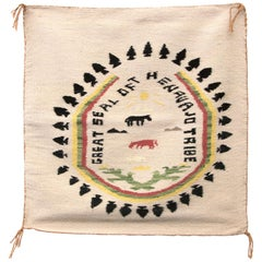 "Vintage Navajo Pictorial Weaving ""Great Seal of the Navajo Tribe"", circa 1945"