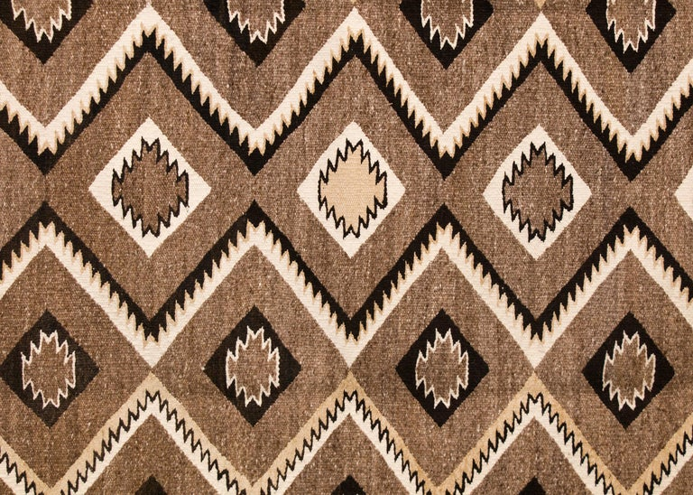 Native American Vintage Navajo Red Mesa Area Rug (Runner), Wool, Mid-20th Century For Sale