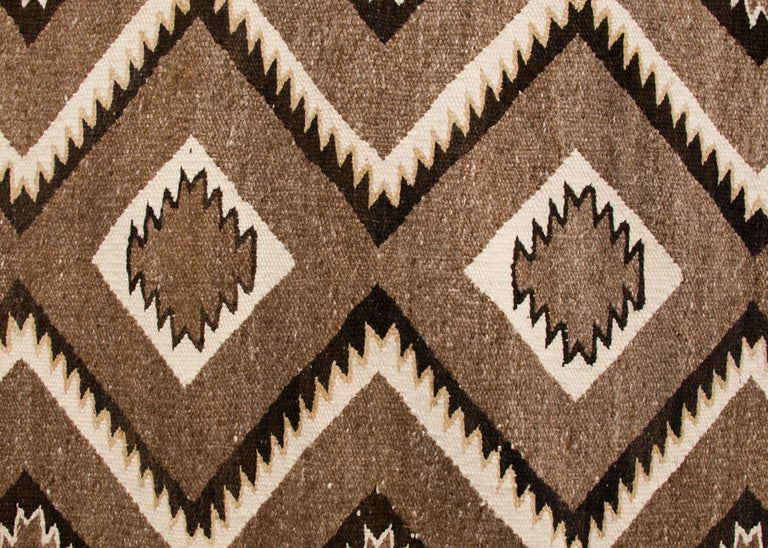 Hand-Woven Vintage Navajo Red Mesa Area Rug (Runner), Wool, Mid-20th Century For Sale