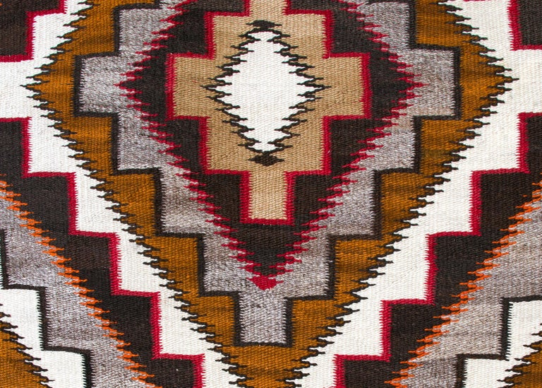 Native American Vintage Navajo Rug, circa 1910, Teec Nos Pos Trading Post Southwestern Textile For Sale