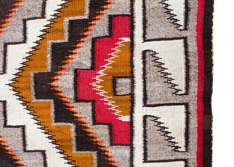 American Vintage Navajo Rug, circa 1910, Teec Nos Pos Trading Post Southwestern Textile For Sale