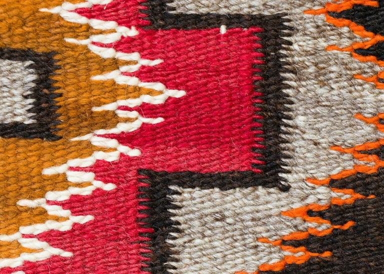 Hand-Woven Vintage Navajo Rug, circa 1910, Teec Nos Pos Trading Post Southwestern Textile For Sale