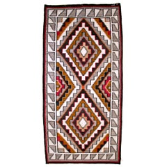 Vintage Navajo Rug, circa 1910, Teec Nos Pos Trading Post Southwestern Textile