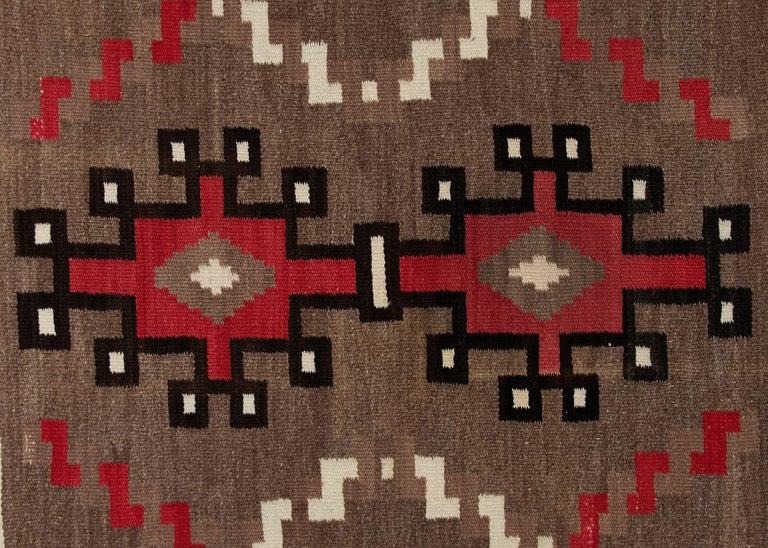 Hand-Woven Vintage Navajo Rug, circa 1940 'Antique Southwestern Native American Textile' For Sale