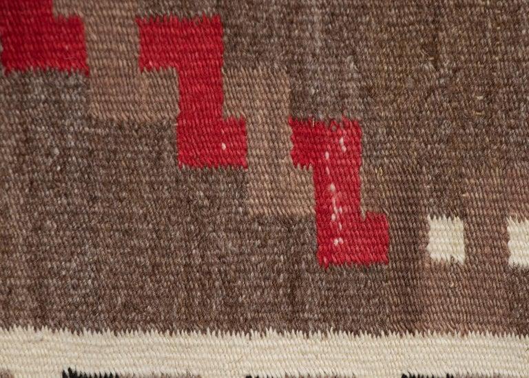 Mid-20th Century Vintage Navajo Rug, circa 1940 'Antique Southwestern Native American Textile' For Sale