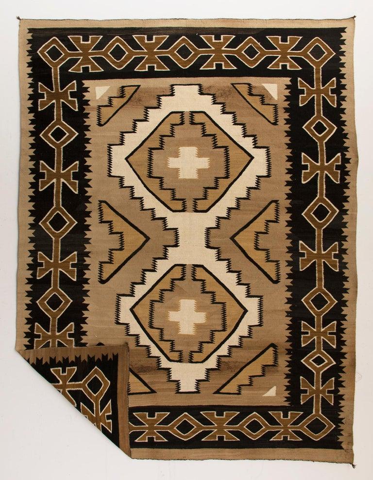 Native American Vintage Navajo Rug, Crystal Trading Post, circa 1930s-1950s For Sale