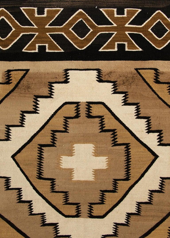 Hand-Woven Vintage Navajo Rug, Crystal Trading Post, circa 1930s-1950s For Sale