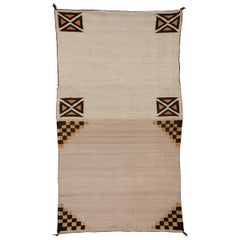 Vintage Navajo Rug Double Saddle Blanket, circa 1925