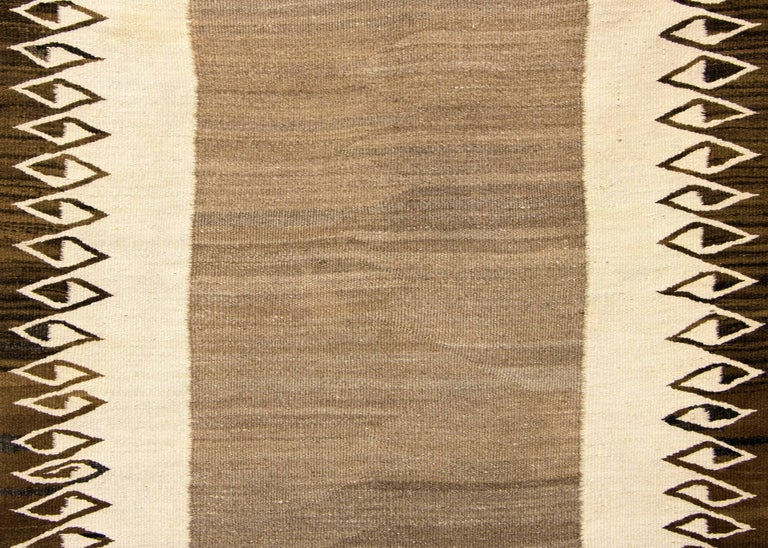 Hand-Woven Vintage Navajo Rug/Double Saddle Blanket, circa 1900 For Sale
