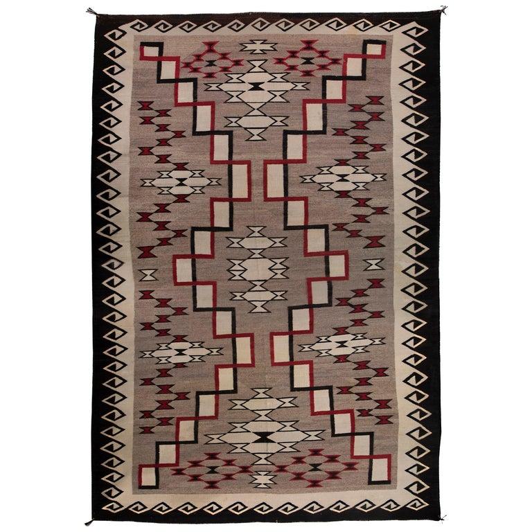 Vintage Navajo Rug Ganado Trading Post Early 20th Century For Sale