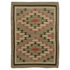 Vintage Navajo Rug Kilim, circa 1940 3'7 x 4'10