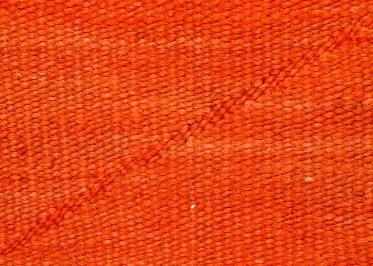 Woven Vintage Navajo Transitional Blanket, Circa 1880, 19th Century, Red Orange Black For Sale
