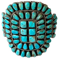 Vintage Native American Turquoise and Silver Cuff/Bracelet