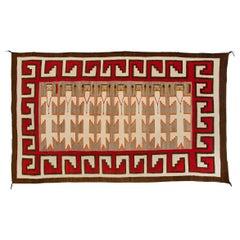 Vintage Navajo Yei Rug 'Yeibichai Pictorial Weaving', circa 1930s