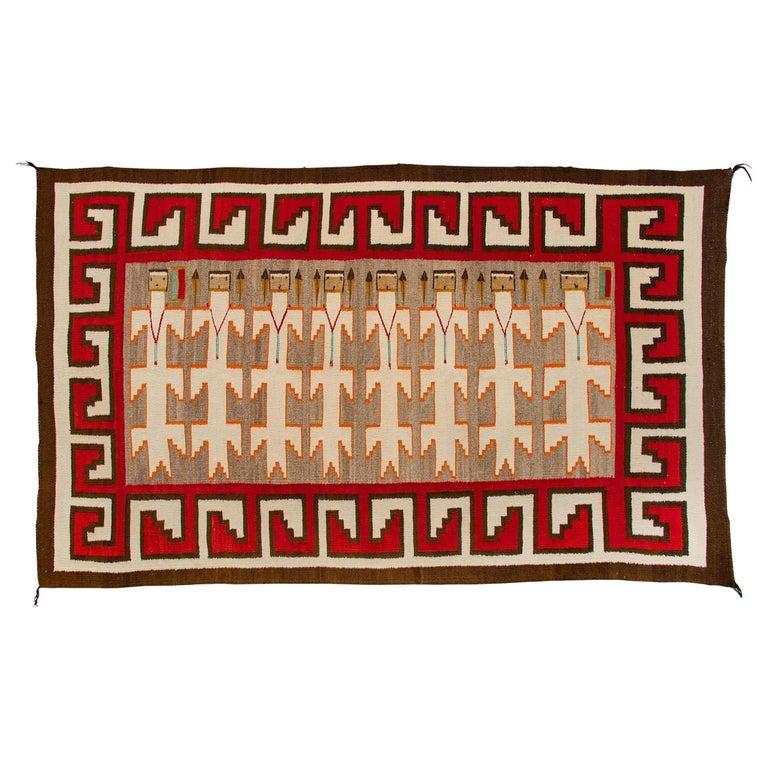Vintage Navajo Yei Rug 'Yeibichai Pictorial Weaving', circa 1930s For Sale