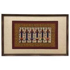 Vintage Navajo YEI Style Framed Tapestry