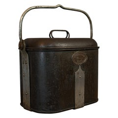 Vintage Navy Rum Kettle, English, Steel, Mess Fanny, Sellman and Hill circa 1950