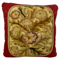 Vintage Hand Stitched Needlepoint Cushion or Pillow