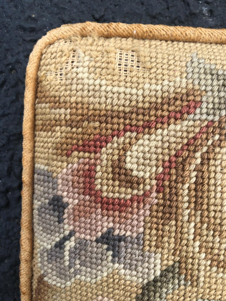 Vintage Needlepoint Upholstery Wall Hanging  For Sale 5