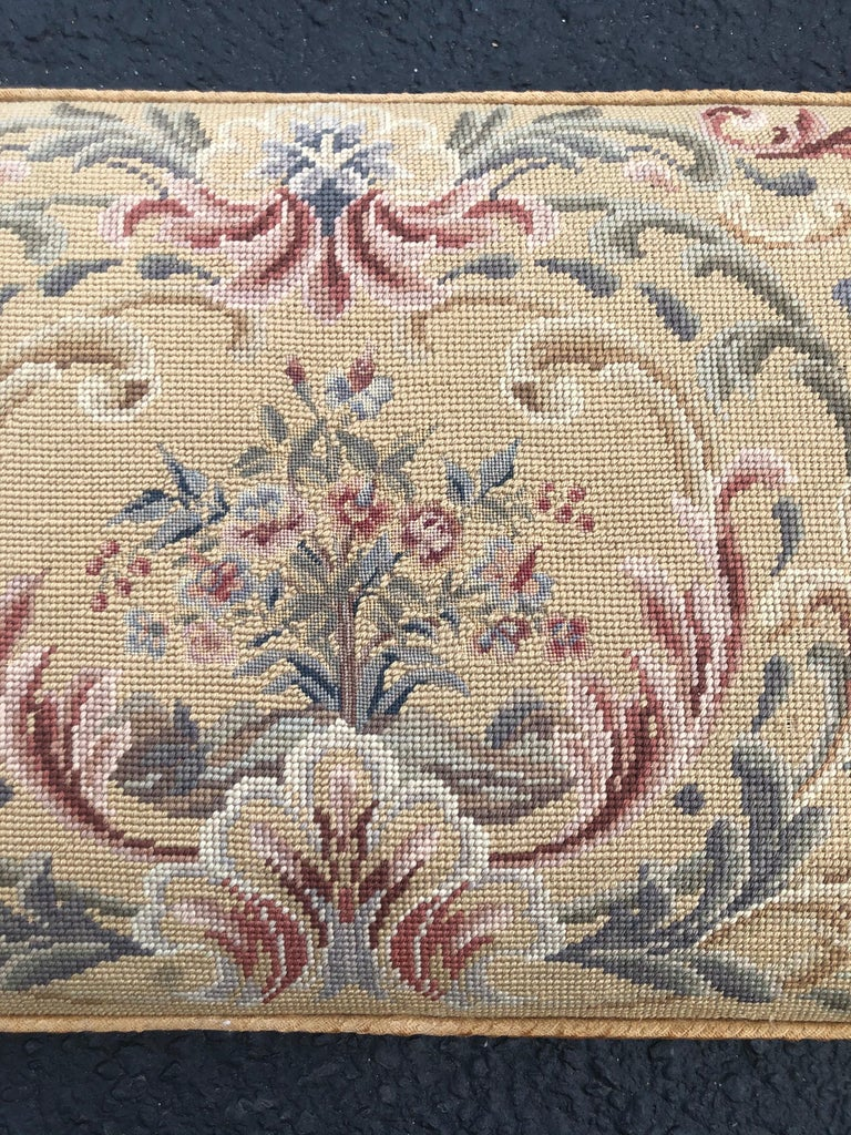 Vintage Needlepoint Upholstery Wall Hanging  For Sale 7