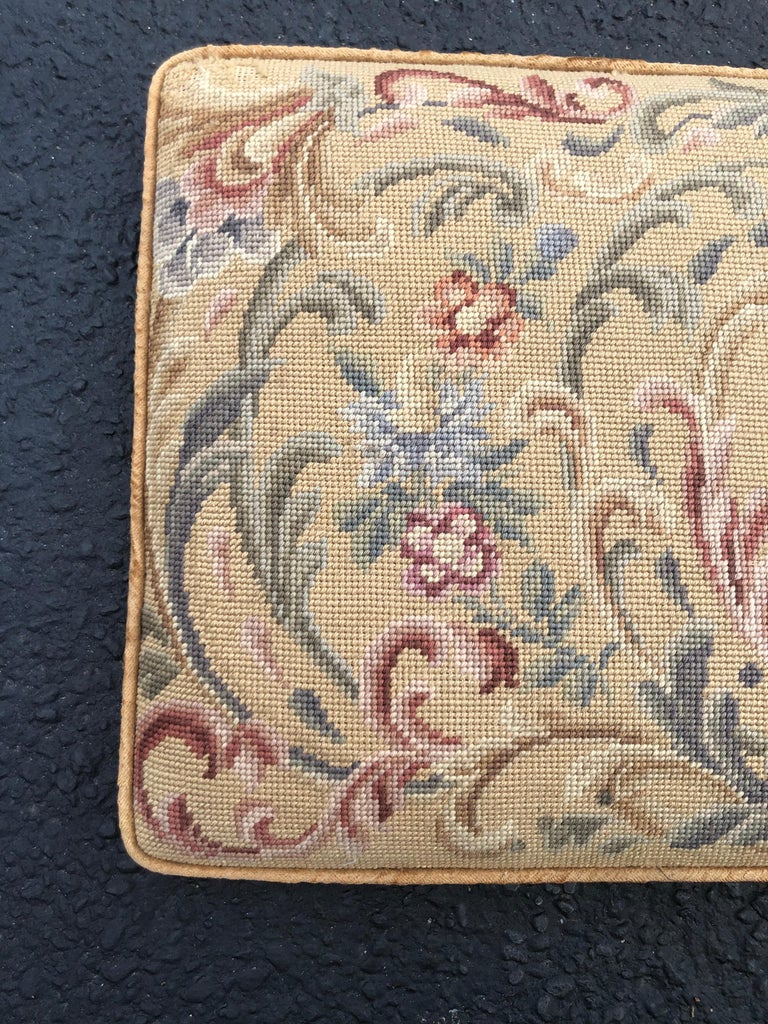 Vintage Needlepoint Upholstery Wall Hanging  For Sale 8