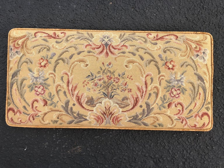 Vintage Needlepoint Upholstery Wall Hanging  In Good Condition For Sale In Redding, CT