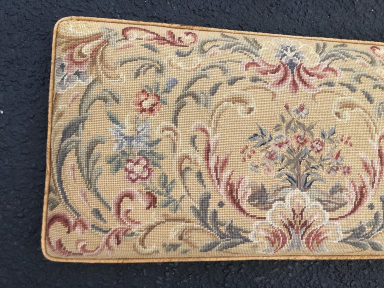 Mid-20th Century Vintage Needlepoint Upholstery Wall Hanging  For Sale