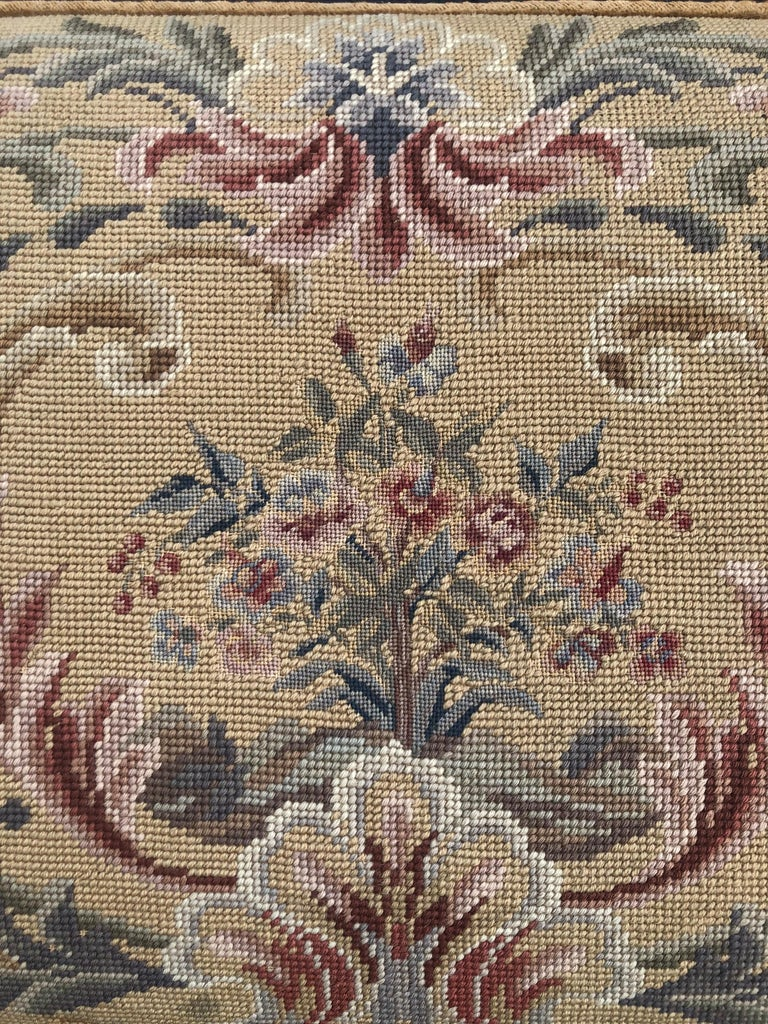 Vintage Needlepoint Upholstery Wall Hanging  For Sale 2