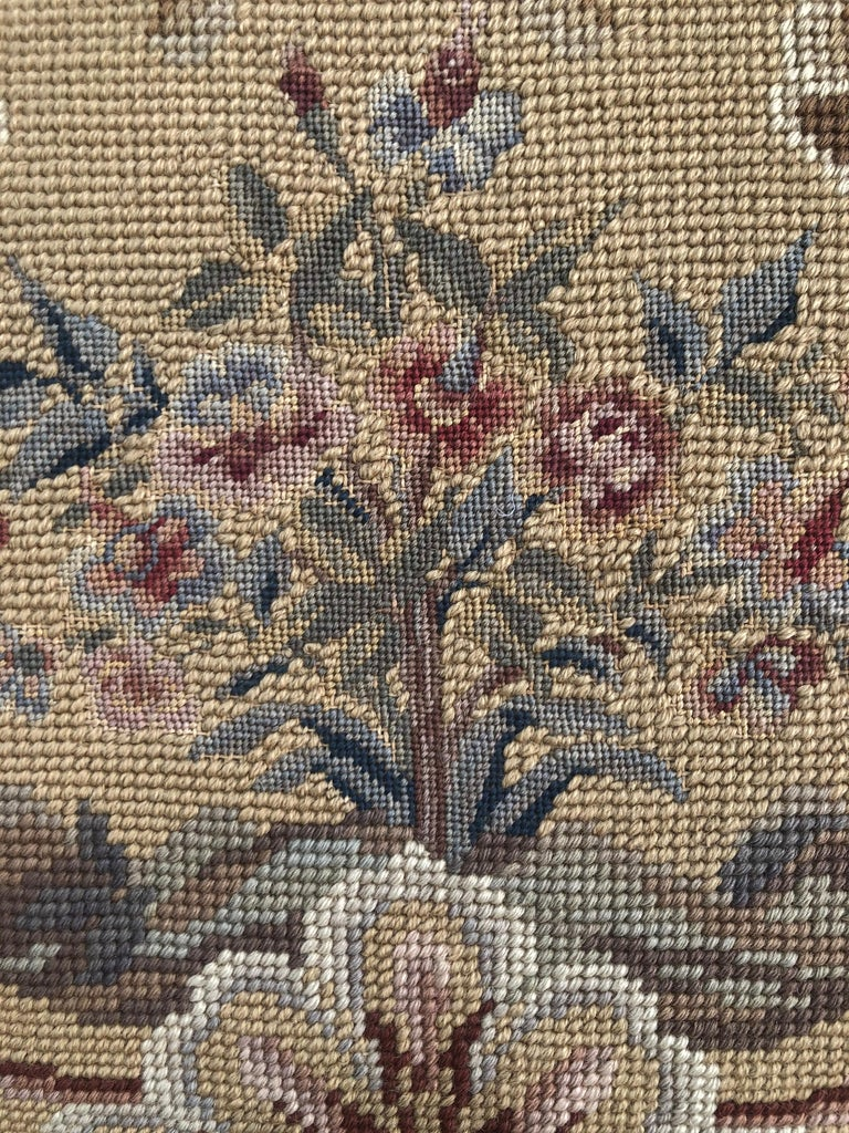 Vintage Needlepoint Upholstery Wall Hanging  For Sale 3